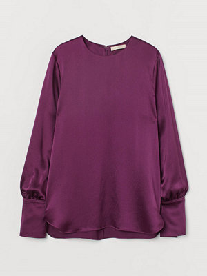 H&M Blus i silkesmix lila