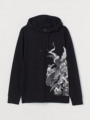 Street & luvtröjor - H&M Huvtröja med tryck svart