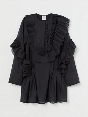 H&M Klänning med volanger svart
