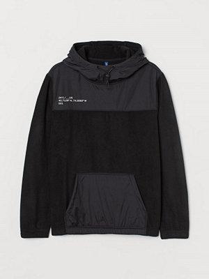 Street & luvtröjor - H&M Huvtröja i fleece svart