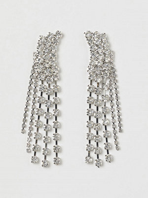 H&M Strassörhängen silver