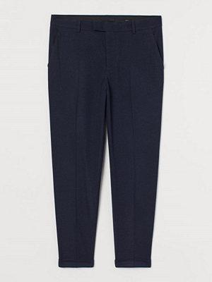 H&M Dressad byxa Slim Fit blå