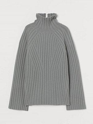 H&M Polotröja i ull grå
