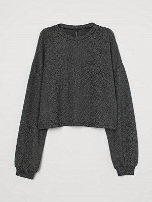 H&M Glittrig tröja svart