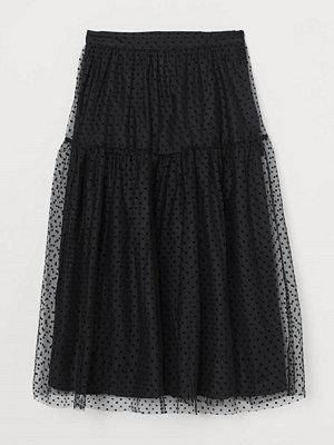 H&M Vadlång meshkjol svart