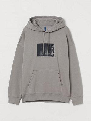 Street & luvtröjor - H&M Oversized huvtröja grå