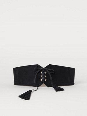 H&M Korsettbälte svart