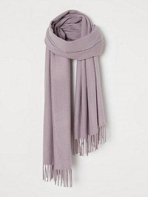 H&M Halsduk med fransar lila