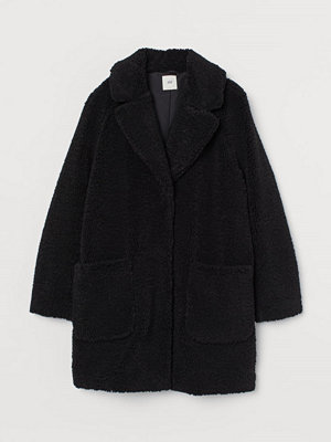 H&M Kort kappa i pile svart