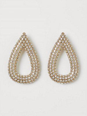 H&M Clips-örhängen med strass silver