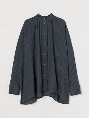 H&M Vid silkesblus grå