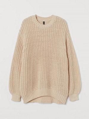 H&M Grovstickad tröja beige