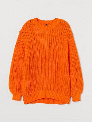 H&M Grovstickad tröja orange