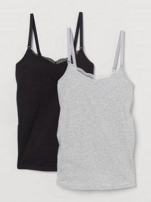 H&M MAMA 2-pack amningslinne grå
