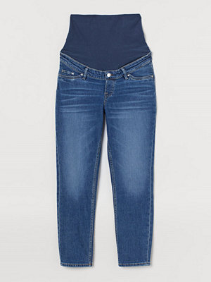 H&M MAMA Mom Ankle Jeans blå