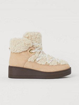 H&M Varmfodrade sneakers beige
