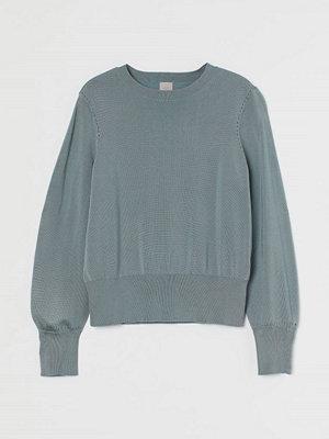 H&M Finstickad tröja turkos