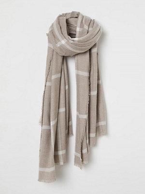H&M Stor scarf brun