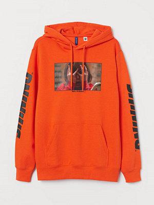 Street & luvtröjor - H&M Huvtröja med motiv orange