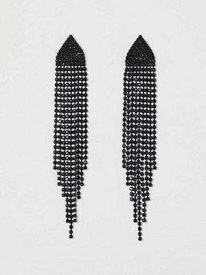H&M Långa strassörhängen svart