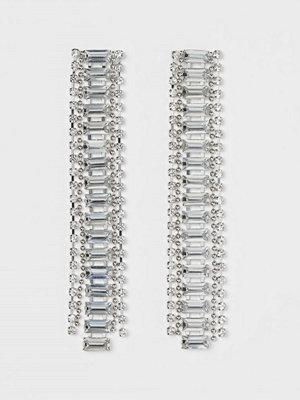 H&M Långa strassörhängen silver