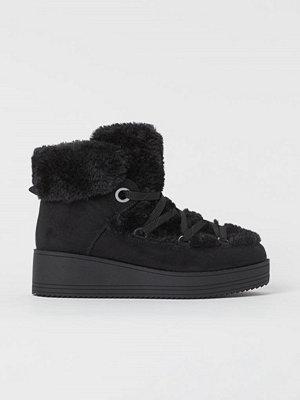 H&M Varmfodrade sneakers svart