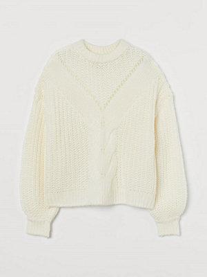 H&M Kabelstickad tröja vit