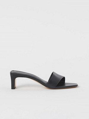 H&M Slip in-sandaletter svart