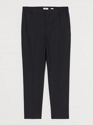 H&M Croppad kostymbyxa i ullmix svart