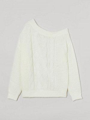H&M H & M+ One shoulder-tröja vit