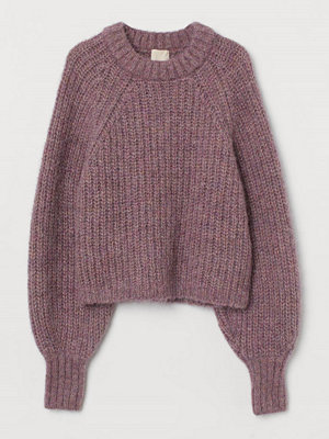 H&M Stickad tröja i alpackamix lila