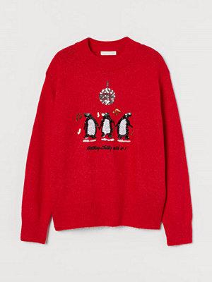 H&M Tröja med paljetter röd