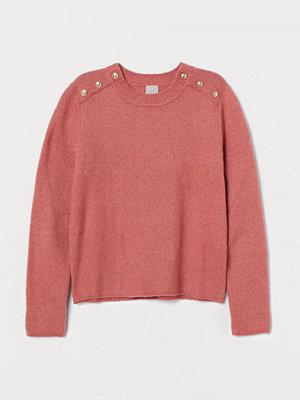 H&M Finstickad tröja röd