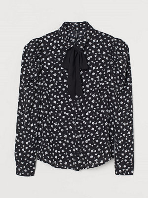 H&M Knytblus svart