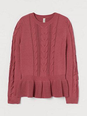 H&M Pointellestickad tröja röd