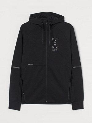 Street & luvtröjor - H&M Träningsjacka med huva svart