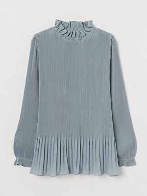 H&M Plisserad blus turkos