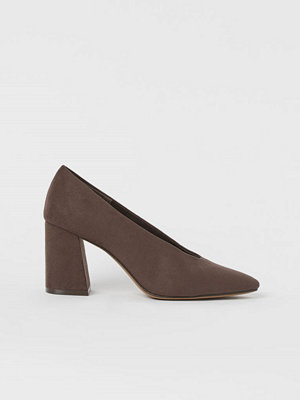 H&M Pumps med blockklack brun