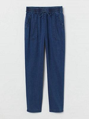 H&M marinblå byxor Pull on-byxa blå