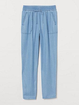 H&M himmelsblå byxor Pull on-byxa blå