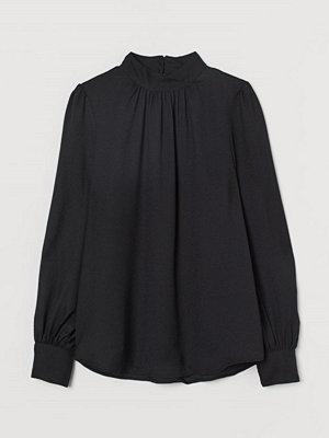 H&M Vid blus svart