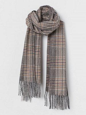 H&M Rutig scarf röd