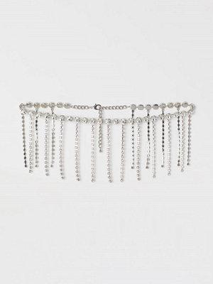 H&M Midjeskärp med strass silver