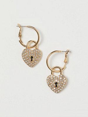 H&M Örhängen med hänglås guld