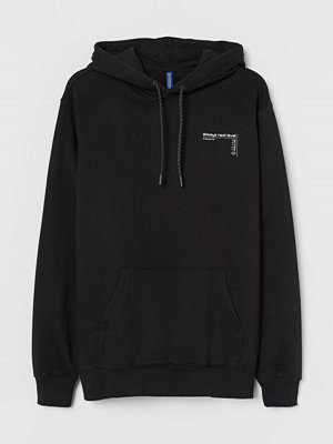 Street & luvtröjor - H&M Huvtröja med motiv svart