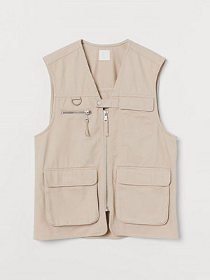 H&M Utilityväst i twill beige
