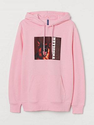 Street & luvtröjor - H&M Huvtröja med motiv rosa