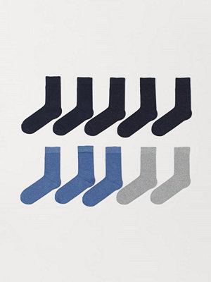 H&M 10-pack strumpor blå