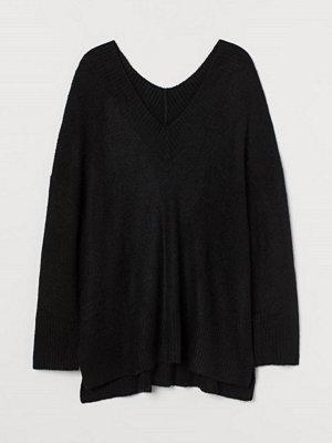 H&M H & M+ V-ringad tröja i ullmix svart