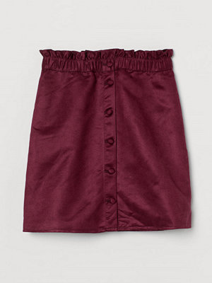 H&M Paper bag-kjol röd